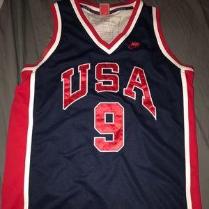 Vintage Nike USA Olympic Michael Jordan Jersey